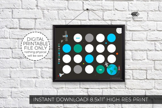Space Outer Space Reward Chart Boys Printable Incentive Etsy