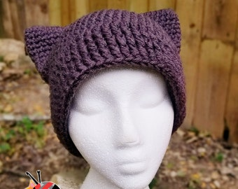 Cat Ears Beanie *Pussy Hat Project*