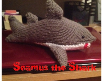 Knitted Shark Doll