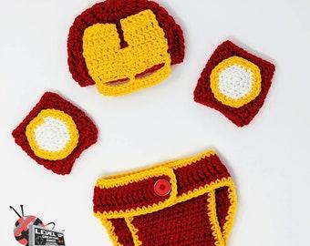 Iron-Man inspired newborn set