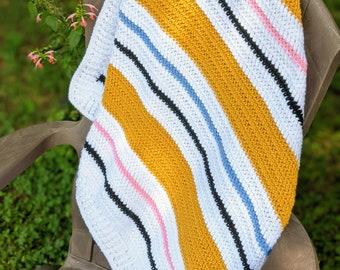 Crochet Herringbone Blanket