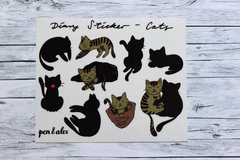 Black Cat Aufkleber 14,5cm 9,5cm