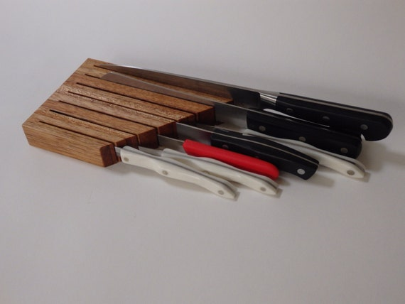 in der schublade messerblock messer block schublade. Black Bedroom Furniture Sets. Home Design Ideas