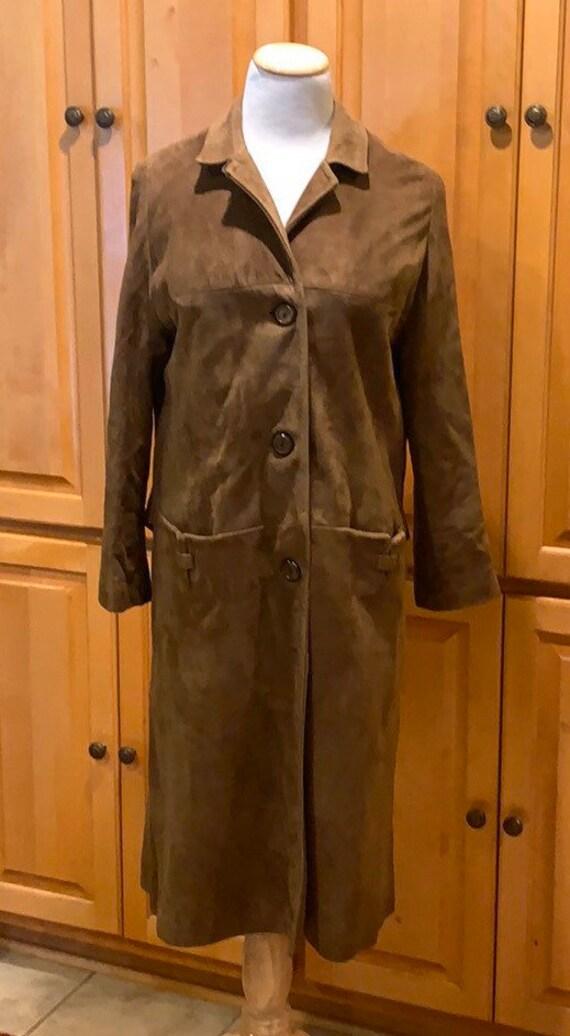 Vintage Leather Suede Coat