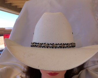 13199b802ab Crystal Beaded Hat Band - W-b