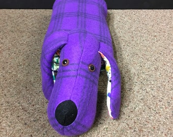 Snuggle Puppy Blanket Pillow Stuffed Animal In Purple And Etsy