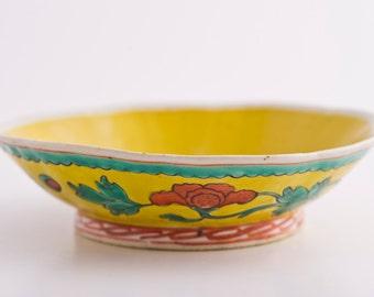 Beautiful Yellow Lotus Flower Bowl