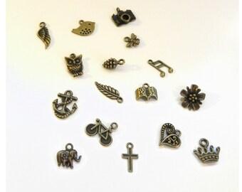 Add a Bronze Charm to your Pendant Necklace, Bracelet, or Key Ring - Charm Bracelet