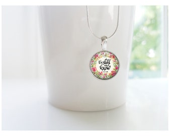 Be Still & Know Sterling Silver Pendant Necklace