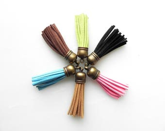 Leather Tassel Key Ring Tassel Key Chain Add Onto Any Key Ring Key Chain Pendant