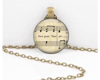 How Great Thou Art Hymn - Fellowship Gift - Pendant Key Ring Christian Gift Idea  - Christian Music  - Religious Gift