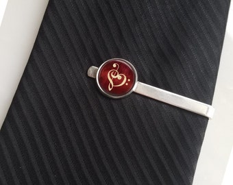 Musician Gift Bass Treble Clef Tie Pin Lapel Pin Tie Clip Tie Bar