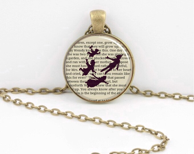 Peter Pan Flying Necklace Peter Pan Story Jewelry or Key Ring