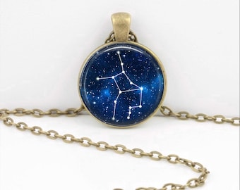 Virgo Pendant Necklace Jewelry, Galaxy Astrology Zodiac Constellation,  Star Sign, Zodiac Jewelry, Horoscope Virgo Necklace