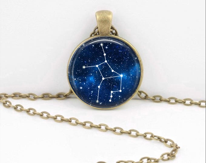Virgo Pendant Necklace Jewelry, Galaxy Astrology Zodiac Constellation,  Star Sign, Zodiac Jewelry, Horoscope Virgo Necklace
