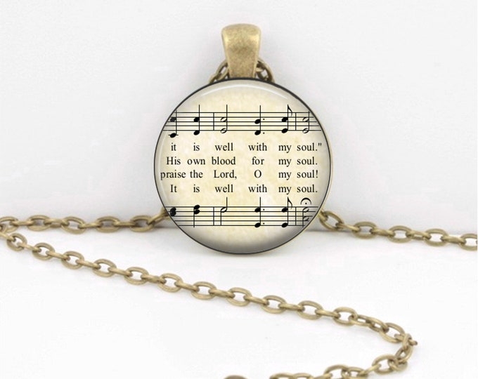 It is Well with My Soul Hymn - Fellowship Gift - Pendant Key Ring Christian Gift Idea  - Christian Music  - Religious Gift