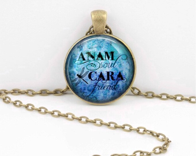 Anam Cara Soul Friend Gaelic Celtic Friendship  Pendant Necklace or Key Ring