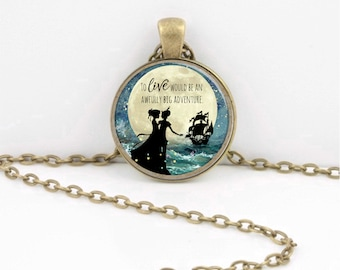 Peter Pan To Live would be an Awfully Big Adventure  Gift keychain key chain key fob