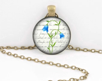 Birth Month Flower Necklace - May - Lily of the Valley - Gift Pendant Necklace Jewelry or Key Ring