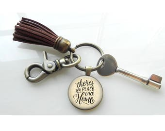 Housewarming gift - Guest gift- New Home Gift - There's no place like home  Map Key Chain Gift