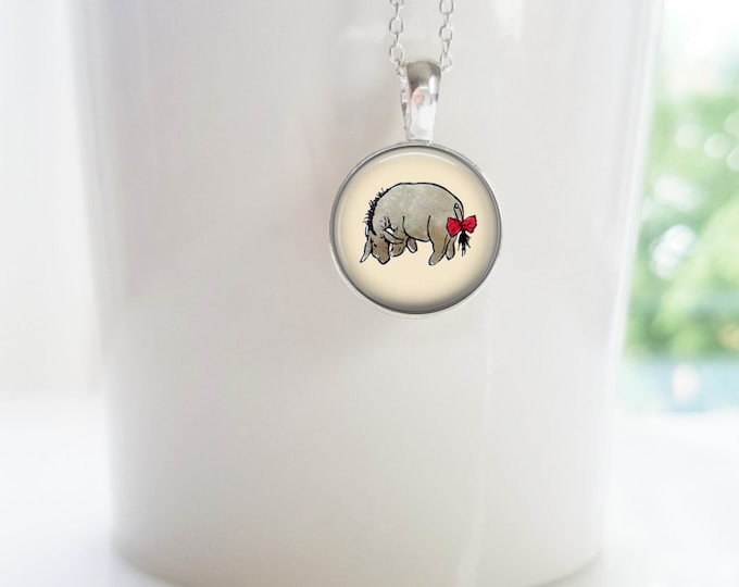 Eeyore from Winnie the Pooh Sterling Silver Pendant Necklace