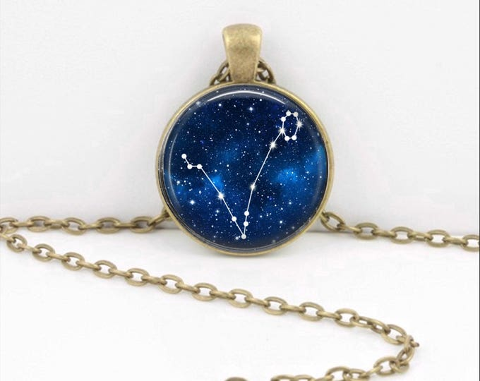 Pisces Pendant Necklace Jewelry, Galaxy Astrology Zodiac Constellation,  Star Sign, Zodiac Jewelry, Horoscope Pisces Necklace