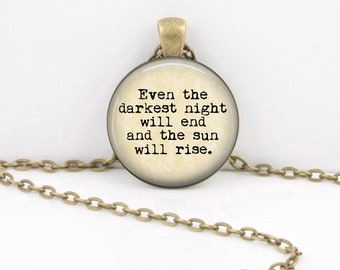 Les Miserables Necklace, Victor Hugo, Musicals, Classic Literature, Books Poetry Pendant Necklace or Key Ring