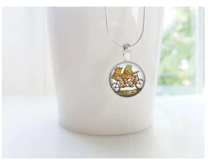 Frog and Toad Sterling Silver Pendant Necklace