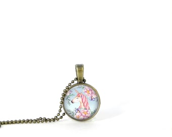 Unicorn necklace Little Girl Necklace Child Necklace small Layering Necklace Pendant Jewelry