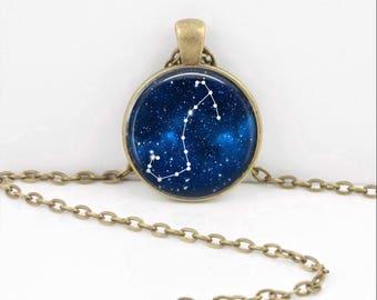 Scorpio Pendant Necklace Jewelry, Galaxy Astrology Zodiac Constellation, Universe Star Sign, Zodiac Jewelry, Horoscope Scorpion Necklace