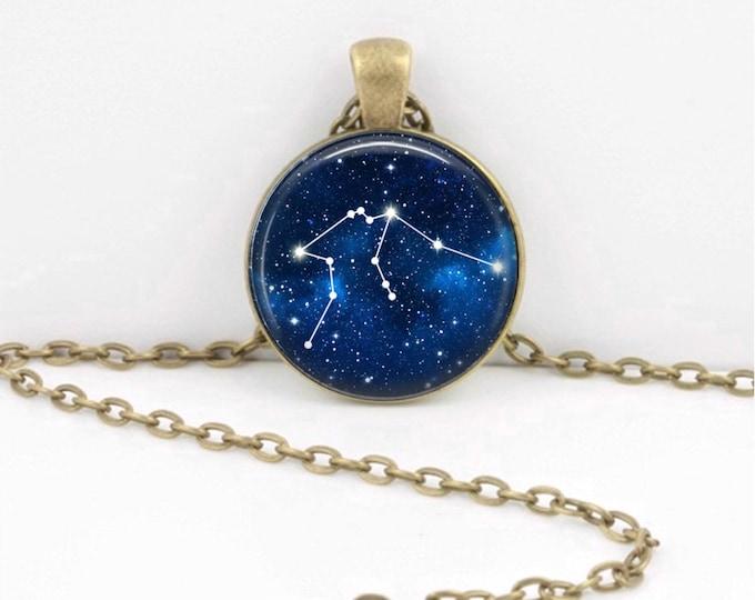 Aquarius Necklace, Aquarius Pendant, Aquarius Jewelry, Astrology, Zodiac, Constellation, Star Sign, Zodiac Sign Necklace, Zodiac Necklace