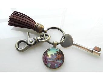 Art Deco Key Ring Art Nouveau Maxfield Parrish Tassel Key Rink