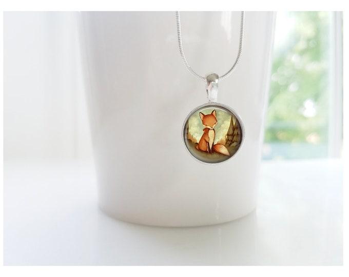 Little Fox - Wildlife - Fox - Sterling Silver Pendant Necklace