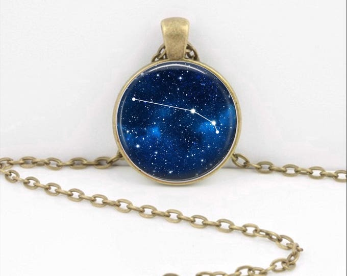 Aries Necklace, Aries Pendant, Aries Jewelry, Astrology, Zodiac, Constellation, Star Sign, Zodiac Necklace, Horoscope Necklace Key Ring