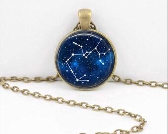 Sagittarius Pendant Necklace Jewelry, Galaxy Astrology Zodiac Constellation,  Star Sign, Zodiac Jewelry, Horoscope Sagitarius Necklace