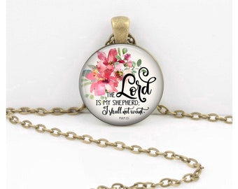 The Lord is my Shepherd Psalm 23 Pendant  Hymn Key Ring Christian Gift Idea  Christian Music  Religious Gift