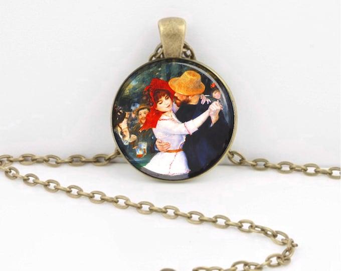 Renoir Dancer Renoir Dance at Bougival Art Pendant Impressionism Jewelry Dancers Pendant Anniversary keychain key chain key fob
