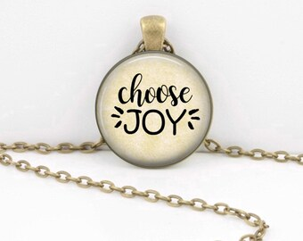 Choose Joy - Choose Joy Necklace - Choose Joy Jewelry - Choose Joy Gift-  jewelry necklace or Key Ring