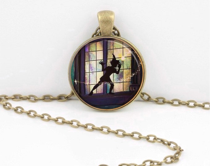 Peter Pan Necklace Peter Pan at the Window Jewelry or Key Ring