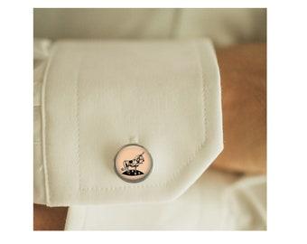 Ferdinand cufflinks, men cufflinks, Father's Day Gift, glass dome cufflinks, glass cufflinks, men accessories, gift for men