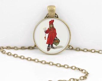 Carl Larsson Scandinavian Holidays Christmas Art Pendant Necklace Inspiration Jewelry or Key Ring