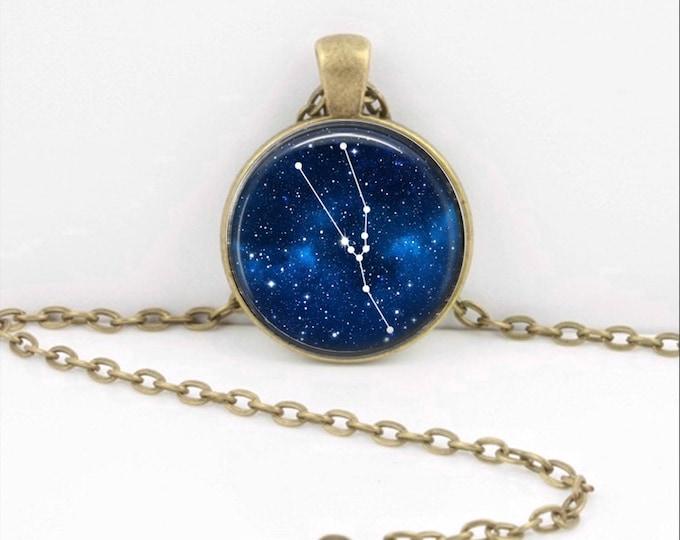 Taurus Pendant Necklace Jewelry, Galaxy Astrology Zodiac Constellation, Universe Star Sign, Zodiac Jewelry, Horoscope Bull Necklace