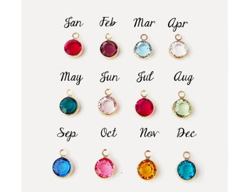 Extra Birthstone for Sterling Silver Necklace