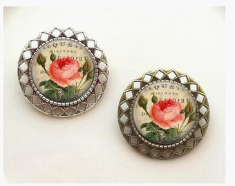 Victorian Rose Vintage-y Brooch Jewelry Scarf Clip Pin Badge Jewelry Vintage Gift
