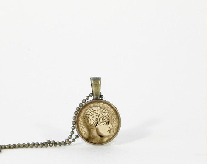 Little Psychology Brain Small Layering Necklace Pendant Jewelry