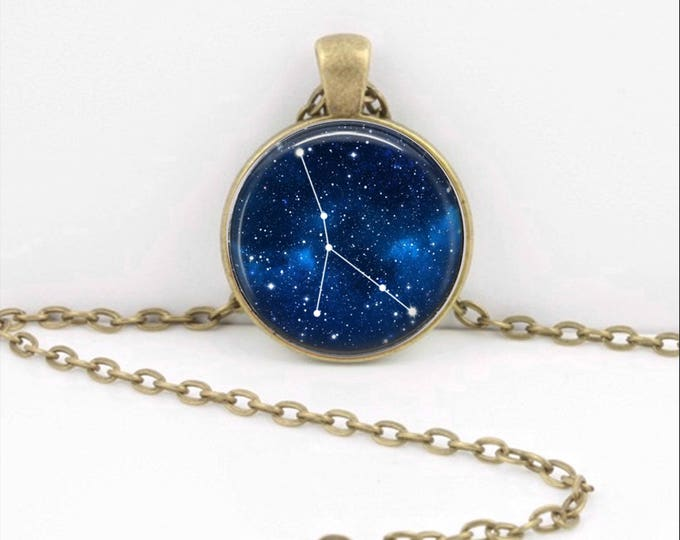 Cancer Zodiac Necklace, Cancer Pendant, Cancer Jewelry, Astrology, Zodiac, Constellation, Star Sign, Zodiac Necklace, Horoscope Necklace