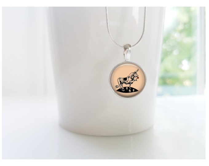 Ferdinand the Bull Children's Book Sterling Silver Necklace Jewelry