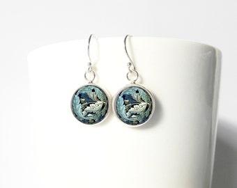 William Morris Dangle Pendant Earrings Sterling Silver Jewelry