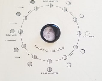 Moon Tie Pin Moon Phase Lapel Pin