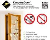 KanguruDoor Friendly Over Door Storage Pockets 24 in T C material